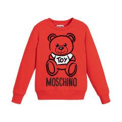 19秋冬 MOSCHINO KIDS/MOSCHINO KIDS 男女童小熊图案混纺针织套头衫 H6F01Q图片