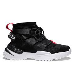 LANMARH男鞋 秋季 飞织 高帮 运动休闲鞋 韩版 潮流 男士 鞋子 男 跑步鞋JP-LQ055图片