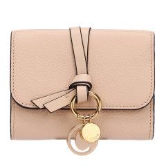 Chloe/克洛伊 19秋冬 女士牛皮短款金属环三折叠式手拿包钱包图片