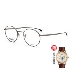 【现货秒发】【赠防唾沫飞溅防护镜】【赠腕表礼盒】HUGO BOSS/雨果博斯 男女款 眼镜 近视镜框 休闲 百搭 眼镜架 圆形眼镜框 0993 F图片