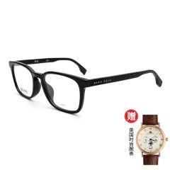 【现货秒发】【赠防唾沫飞溅防护镜】【赠腕表礼盒】HUGO BOSS/雨果博斯 眼镜框 近视 眼镜架 超轻 全框 光学镜架 男女款 黑色 眼镜框 1023 F图片