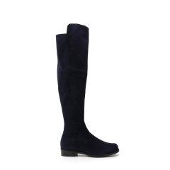 Stuart Weitzman/斯图尔特韦茨曼 19年秋冬 过膝靴 女性 圆头 复古 高筒靴 5050 SUESUEELASTIC COFFEE图片