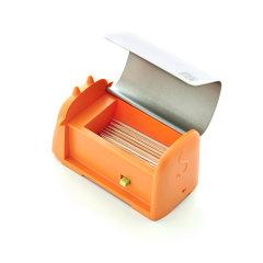 【新品】artiart  厨用小工具 不锈钢 自动按压牙签盒 创意牙签筒  可爱小牛卡通牙签罐图片