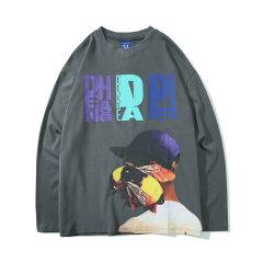 嘿帕/HEIPAR  2019秋季新款欧美嘻哈潮牌圆领卫衣 男士宽松百搭创意趣味图案印花上衣 ZXCY-M015图片
