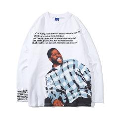 嘿帕/HEIPAR 2019秋季新款欧美嘻哈潮牌人物印花圆领卫衣 男士创意字母图案宽松百搭上衣 ZXCY-WY012图片