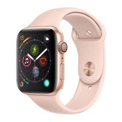 Apple?Watch Series?4 智能手表 GPS 40 毫米银色铝金属表壳搭白色运动型表带图片