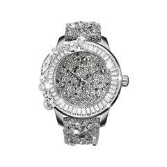 Galtiscopio/迦堤手表女 星钻浪漫系列白色  满天星欧美时尚潮流瑞士机芯大表盘皮表带石英女士腕表图片