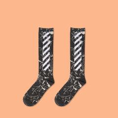 嘿帕/HEIPAR 2019新款欧美嘻哈潮牌原宿街头ins风运动篮球滑板男女中筒休闲袜子 W-YH3725图片