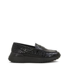 ALBER ELBAZ X TOD'S 2019年秋冬新品 TOD'S/托德斯 女士 牛皮鞋面 鳄鱼纹牛皮乐福鞋 平底鞋图片