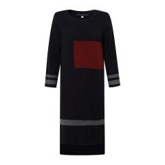 19秋冬【DesignerWomenwear】MONOSPACE/单一空间 纯羊毛拼色长袖针织女士连衣裙图片