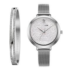 Pierre Lannier/连尼亚 法国原装进口星钻系列女士石英手表手镯套装图片