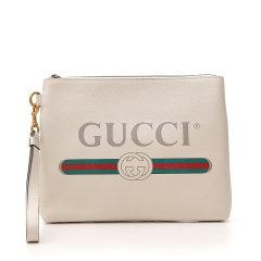GUCCI/古驰 20年春夏 Gucci Print系列皮革手拿包 男性 黑色 手拿包 572770_0Y2AT_8163图片