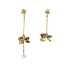 【O.YANG/O.YANG】珠宝/风车耳环施华洛世奇珍珠女长款天然母贝壳不对称耳坠图片