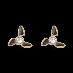 【O.YANG/O.YANG】珠宝/风车耳钉天然母贝壳女施华洛世奇水晶珍珠高级感气质图片