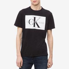 Calvin Klein Jeans/Calvin Klein Jeans 男士 印字母交织Logo全棉短袖T恤 M6545495图片