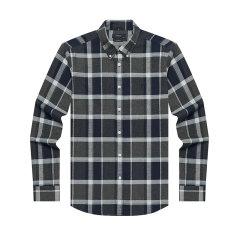 HAZZYS/哈吉斯2019年秋季新款英伦格子男士长袖衬衫ASCZK19DK38图片