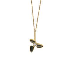 【O.YANG/O.YANG】珠宝/风车项链 女施华洛世奇珍珠锁骨链简约气质网红吊坠图片