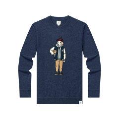 HAZZYS/哈吉斯PHIZ系列秋冬款羊毛衫羊毛男士针织衫/毛衣ABYZD08DI30图片