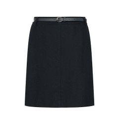 【商场同款】HAZZYS/哈吉斯 2019年秋冬新款女士半身裙纯色修身中腰短裙包臀裙ABQST09DT09图片