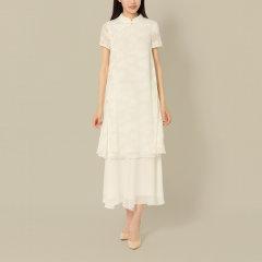 DONGJINGJI/东景记 女士连衣裙  立领盖袖宽松A摆连衣裙图片