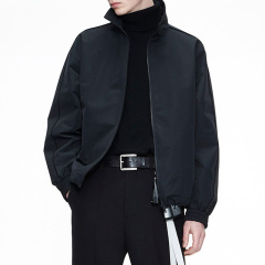 MOCO男装品牌COMMONGENDER/COMMONGENDER2019秋冬季新品短款印花立领男士夹克外套CAI3JKT031图片