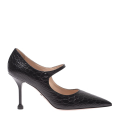 PRADA/普拉达 19秋冬 印花 尖头鞋 细跟 高跟鞋 3268 跟高:9cm.图片