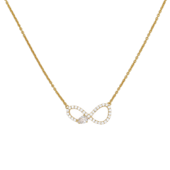 【O.YANG/O.YANG】项链女锁骨链人造锆石镶嵌欧美简约气质长款情侣生日礼物图片