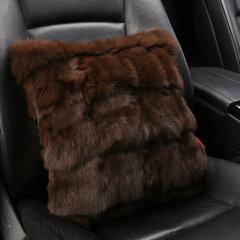 NATU  新款汽车冬季狐狸毛保暖腰靠  汽车背靠  靠垫  抱枕图片