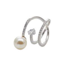【O.YANG/O.YANG】珍珠戒指女异形不规则925银原创设计生日礼物复古欧美情侣图片