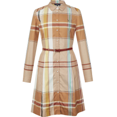 HAZZYS/哈吉斯2019秋季新款都市休闲风格子女士连衣裙AQWSC09CC01图片