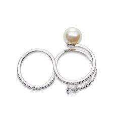 【O.YANG/O.YANG】珍珠戒指女异形不规则925银原创设计生日礼物复古欧美情侣女图片