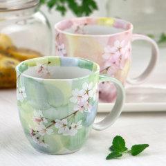 【日本进口】Mino Yaki美浓烧日式陶瓷杯子咖啡杯套装礼盒家用创意茶杯水杯樱花杯子图片