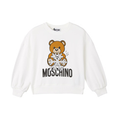 19秋冬 MOSCHINOKIDS/MOSCHINOKIDS 男女童混纺小熊图案加绒薄款卫衣HDF027图片