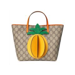 GUCCI/古驰 19新款儿童,女士通用帆布手提包菠萝/蝴蝶立体图案手提包 550768图片