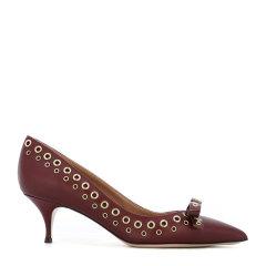 瑕疵折扣 RED VALENTINO/RED VALENTINO 女士酒红色中跟鞋LQ2S0814VRZU14图片