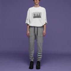 KKtPx DevolutioN联名款 个性潮牌时尚针织长裤退化建筑休闲裤图片