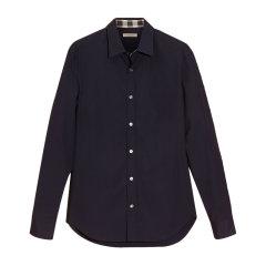 Burberry/博柏利 男装 服装 棉质上衣格纹袖口商务休闲长袖 男士衬衫图片