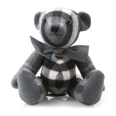 BURBERRY/博柏利羊绒羊毛格纹小熊公仔四肢转动灵活可坐立图片