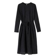 YAWANGCHEN/YAWANGCHEN针织提花两件套长袖女士连衣裙图片