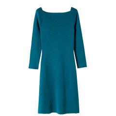YAWANG CHEN/YAWANG CHEN女装>女士裙装>女士连衣裙简约优雅精致 超显气质一字肩连衣裙图片