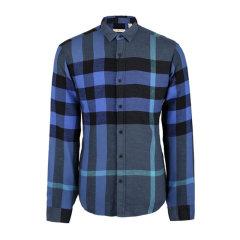 Burberry/博柏利  男士经典拼色大格纹法兰绒棉质长袖衬衫图片