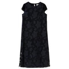 【DesignerWomenwear】YAWANGCHEN/YAWANGCHEN简约优雅提花短袖女士连衣裙雅望YW气质时尚杏色图片