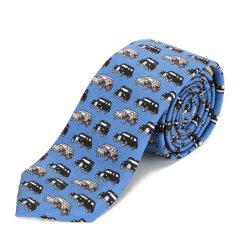 BURBERRY/博柏利蓝色印花男士领带