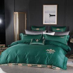 MY SIDE 60支纱全棉刺绣工艺四件套 秋冬床上用品被套床单4件套-经传图片