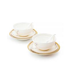 玛戈隆特 进博盛宴珐琅彩骨瓷餐具套装2-4人份家用套装碗盘礼盒装图片