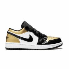 NIKE耐克 篮球鞋 20秋冬 金色 男鞋 女鞋 Air Jordan1 low AJ1漆皮黑金脚趾男款CQ9447-700 CQ9487-700图片