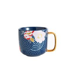 JingRepublic/共禾京品个性创意中式复古插画手绘陶瓷国风马克杯办公室情侣水杯图片