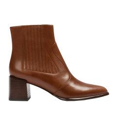 73hours Harper 靴子2019尖头皮靴方跟短靴通勤摩登简洁时装女靴图片