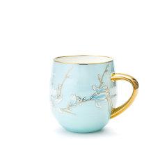 Miracle Dynasty/玛戈隆特 行云系列玉兰花开奶杯早餐杯 家用办公室水杯陶瓷马克杯图片