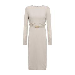 19秋冬【DesignerWomenwear】PESARO/PESARO圆领木耳边长袖女士连衣裙图片